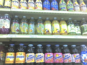 Juice shelves