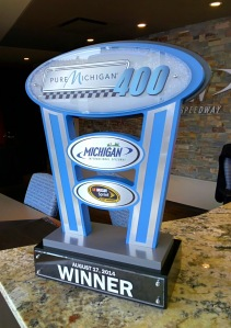 2014 Pure Michigan 400 trophy