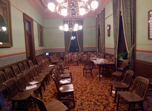 This is a very private place behind the scenes, as it is the House Republican Caucus Room. The House Democrats have one, too. It is a well-heeded rule in our caucus that what is said in this room stays in this room. It's a place where I saw Republicans spend many hours debating policies and issues with fervor but always ending with their friendship and camaraderie intact.