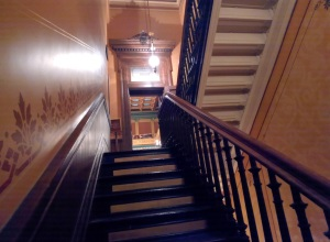 "I lost track a long time ago how many times I've gone running up and down these steps before, during and after session. This is the back stairwell that leads up to the House chamber. It's behind a ""No Visitors Beyond This  Point"" sign in the main Capitol hallway. I guess that will be me now.  :/"
