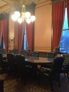 The actual Speaker's office - the place Jase Bolger always thanked visitors for allowing him to borrow. That sentiment is part of what made him a great public servant. I spent a lot of hours at that big table during strategy meetings.
