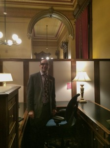 The last shot of me in my empty Capitol office before I left. Maybe it was best that I ended my work day about 27 hours after it ended, because by then I was ready to leave.